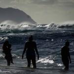 north shore beachgoers